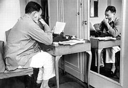 Hemingway writing in Paris